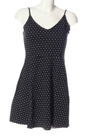 H&M Divided Trägerkleid schwarz-weiß Punktemuster Casual-Look