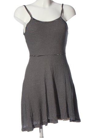 H&M Divided Trägerkleid schwarz-weiß Streifenmuster Elegant