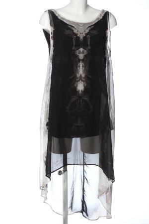H&M Divided Trägerkleid schwarz-weiß grafisches Muster Elegant