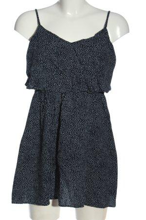 H&M Divided Trägerkleid blau-weiß Allover-Druck Casual-Look