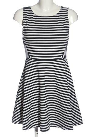 H&M Divided Trägerkleid schwarz-weiß Streifenmuster Casual-Look