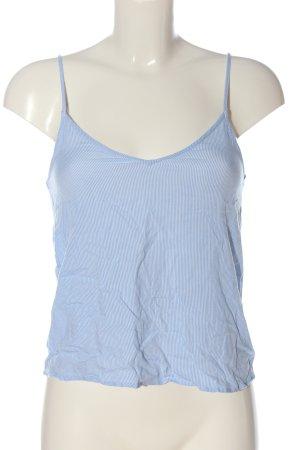 H&M Divided Trägertop blau-weiß Streifenmuster Casual-Look