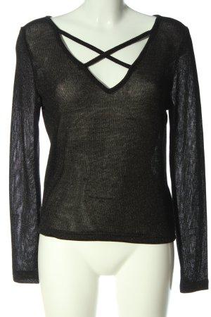 H&M Divided Transparenz-Bluse schwarz Casual-Look