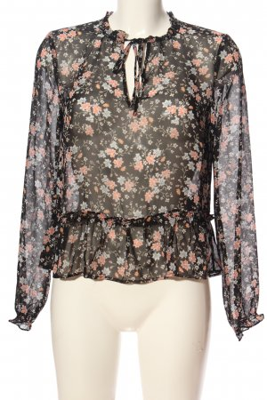 H&M Divided Transparenz-Bluse Blumenmuster Casual-Look