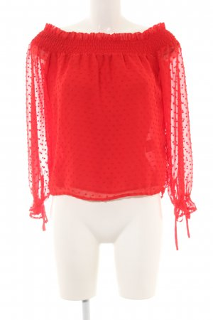 H&M Divided Transparenz-Bluse rot Allover-Druck Casual-Look