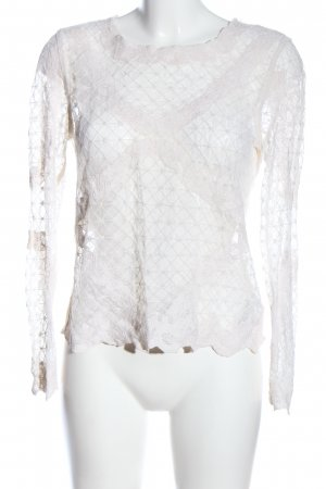 H&M Divided Transparent Blouse white business style