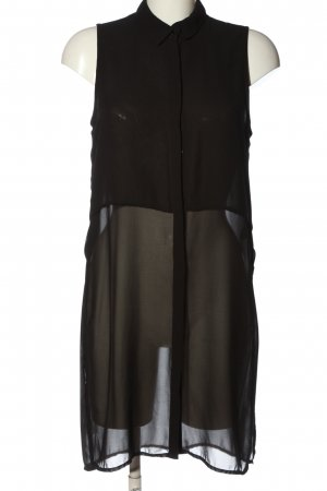 H&M Divided Transparenz-Bluse schwarz Business-Look