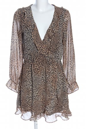 H&M Divided Transparenz-Bluse braun-nude Allover-Druck Casual-Look