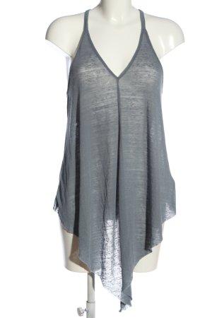 H&M Divided Transparenz-Bluse hellgrau meliert Casual-Look