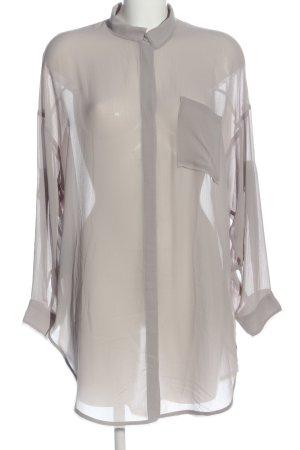 H&M Divided Transparenz-Bluse hellgrau Casual-Look