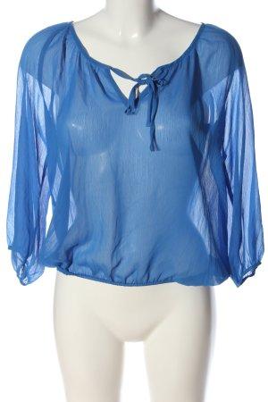 H&M Divided Transparenz-Bluse blau Casual-Look