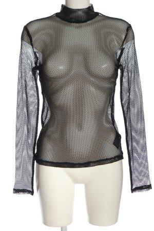 H&M Divided Siateczkowa koszulka czarny Ekstrawagancki styl