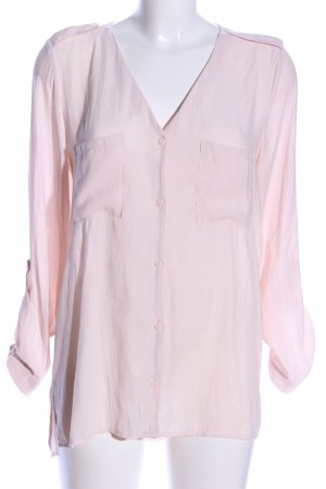 H&M Divided Transparenz-Bluse pink Business-Look