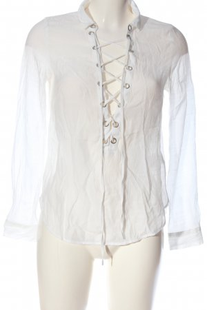 H&M Divided Transparenz-Bluse weiß Casual-Look