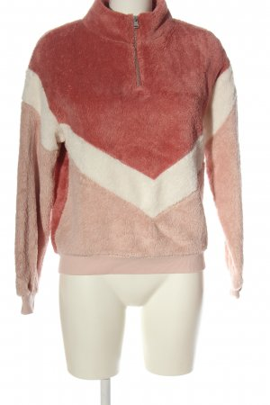H&M Divided Troyer pink-weiß Streifenmuster Casual-Look