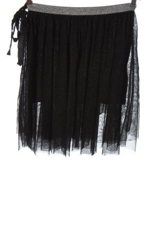 H&M Divided Tüllrock schwarz-silberfarben Elegant