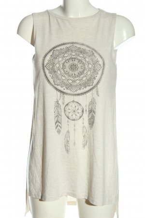 H&M Divided Tunic Blouse natural white-light grey flecked casual look