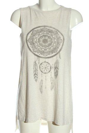 H&M Divided Tunique-blouse blanc cassé-gris clair moucheté style décontracté