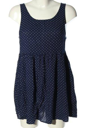 H&M Divided Tunique-blouse bleu-blanc motif de tache style décontracté