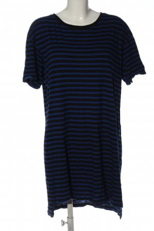 H&M Divided Tunic Blouse blue-black allover print casual look