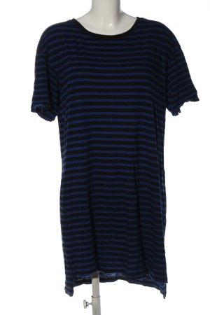 H&M Divided Tunique-blouse bleu-noir imprimé allover style décontracté