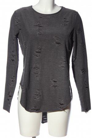 H&M Divided Tunic Blouse light grey flecked casual look