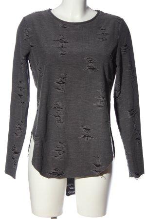 H&M Divided Tunique-blouse gris clair moucheté style décontracté