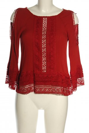 H&M Divided Tunic Blouse red casual look