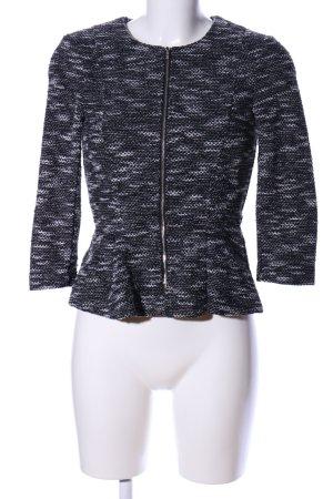 H&M Divided Tweedblazer schwarz-hellgrau meliert Casual-Look
