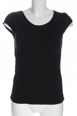 H&M Divided Camisa de cuello barco negro look casual