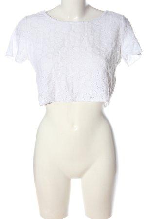 H&M Divided Koszulka z dekoltem w łódkę biały W stylu casual