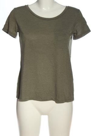 H&M Divided Koszulka z dekoltem w łódkę khaki Melanżowy W stylu casual