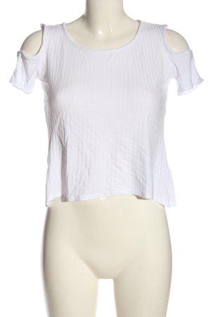 H&M Divided Top à col bateau blanc style décontracté