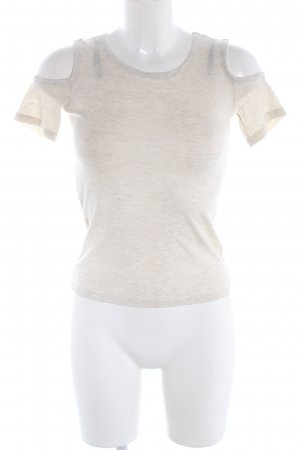H&M Divided Boothalsshirt wolwit gestippeld casual uitstraling