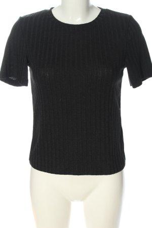 H&M Divided Chemise côtelée noir style décontracté