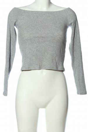 H&M Divided U-Boot-Shirt hellgrau meliert Casual-Look