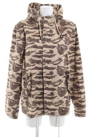 H&M Divided Übergangsjacke beige-graubraun Camouflagemuster Casual-Look