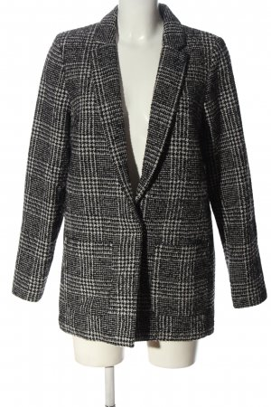 H&M Divided Between-Seasons-Coat light grey-black check pattern business style
