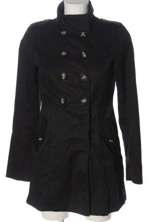 H&M Divided Between-Seasons-Coat black business style