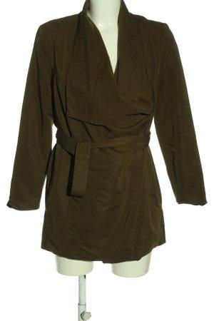 H&M Divided Between-Seasons-Coat brown casual look