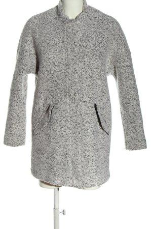 H&M Divided Between-Seasons-Coat light grey flecked casual look