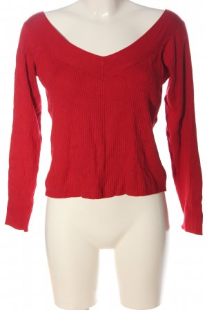 H&M Divided V-Neck Sweater red casual look