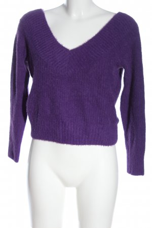 H&M Divided V-Neck Sweater lilac casual look