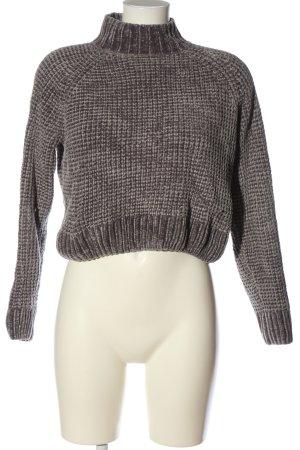 H&M Divided V-Ausschnitt-Pullover hellgrau Casual-Look