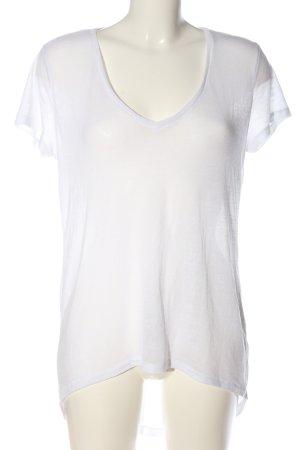 H&M Divided V-Ausschnitt-Shirt weiß Casual-Look