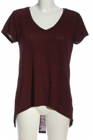 H&M Divided V-Ausschnitt-Shirt rot Casual-Look