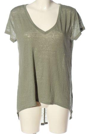 H&M Divided V-Ausschnitt-Shirt khaki Casual-Look