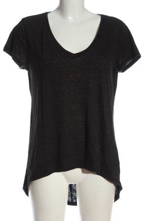 H&M Divided V-Ausschnitt-Shirt schwarz Casual-Look