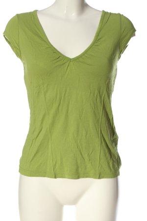 H&M Divided V-Ausschnitt-Shirt grün Casual-Look