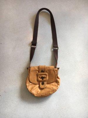 H&M Divided Vintage Leder Tasche Hippie